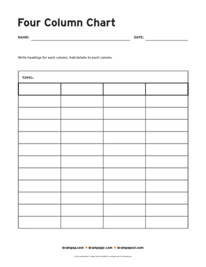 Blank 10 Column Financial Worksheet Template  Best Images Of Blank