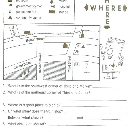 Blank Us Map Worksheet Org Free Kindergarten Skills Reading Maps