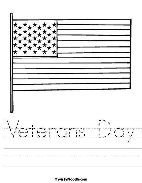 Veterans Day Worksheet From Twistynoodle Com