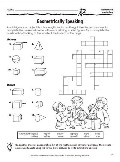 Geometrically Speaking  Crossword Puzzle