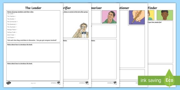 Reciprocal Reading Note Taking Worksheet   Worksheets