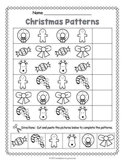Christmas Pattern Worksheet