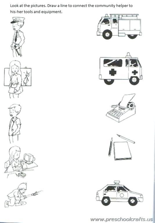 Community Helpers Kindergarten Worksheets Munity Worksheets For