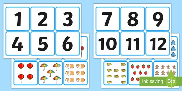 Counting Objects Worksheets 1 20 Number And Quantity Matching