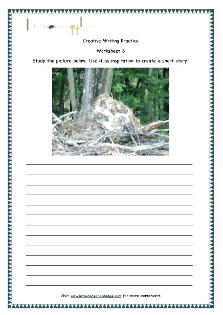 Creative Writing Worksheets High School Kindergarten For Grade
