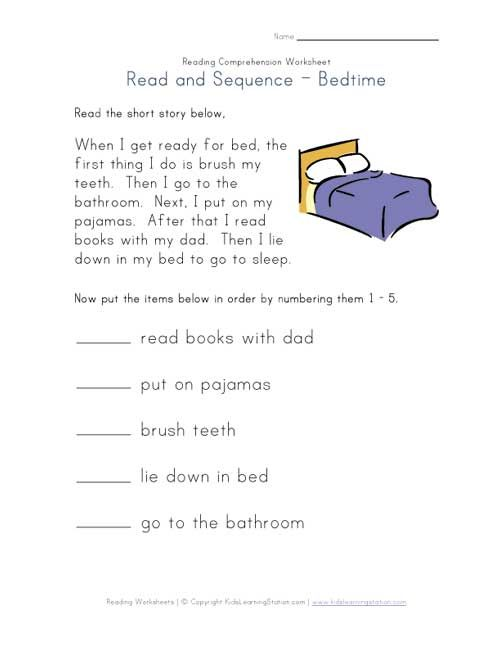 Kindergarten Grade Reading Comprehension Worksheets  1