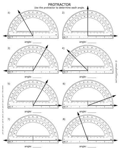 How To Use A Protractor  Free Worksheet With Answer Key  Black