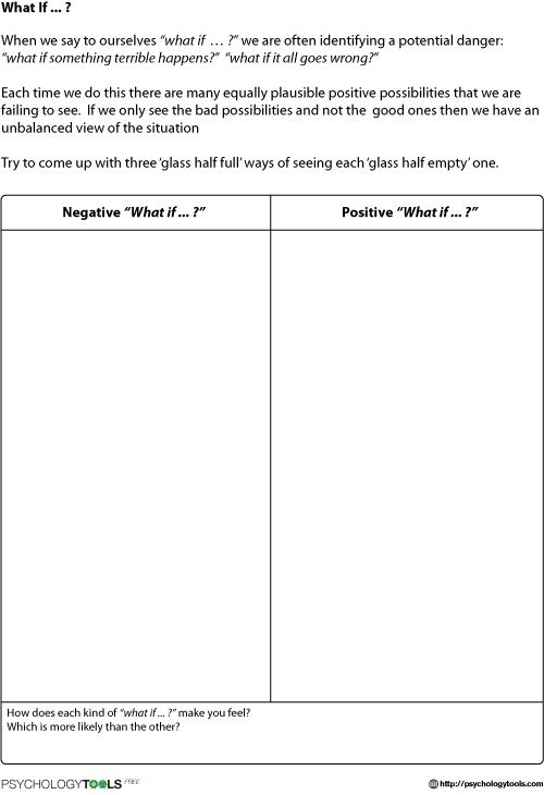 What If  Cbt Worksheet