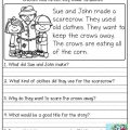 Short Reading Comprehension Worksheets