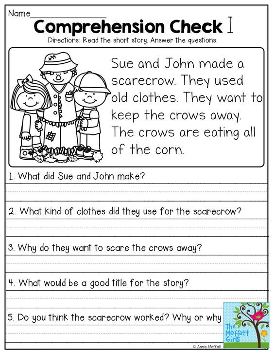 Short Stories With Comprehension Questions!