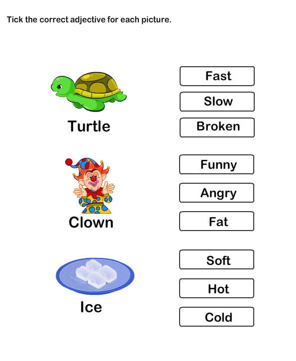 Describing Words Worksheet11