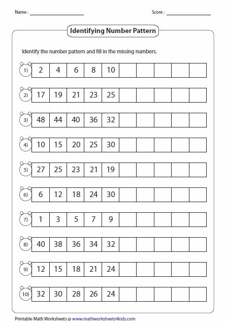 Standard Number Pattern