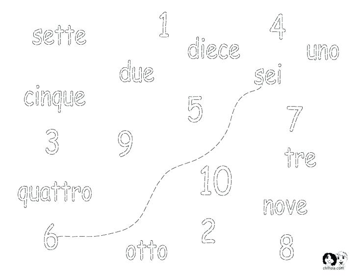 Easy French Worksheets Numbers For Italian Kids Graphic Design