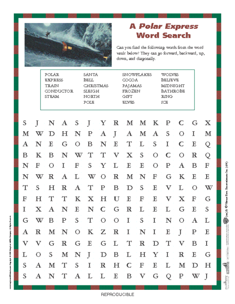 Polar Express Worksheets