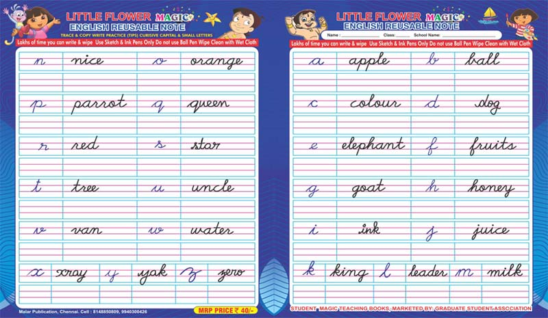 Small Alphabets Writing Practice
