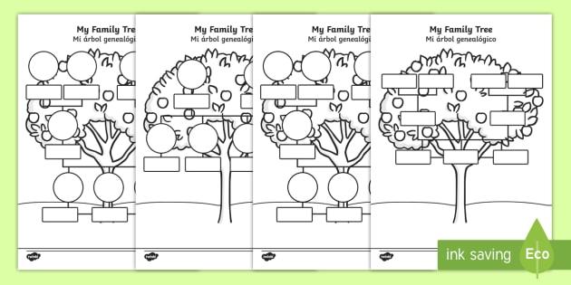 My Family Tree Worksheet   Worksheets English Spanish