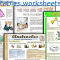 Characteristics Of Fables Worksheets
