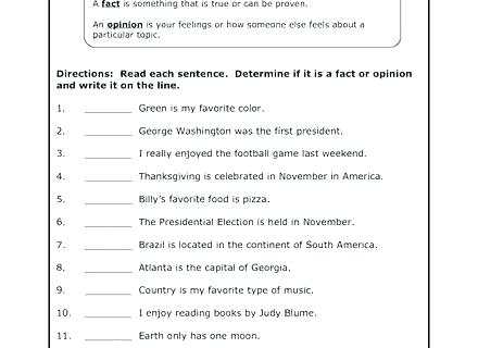 Fact Vs Opinion Worksheet Google Search Social Studies Facts