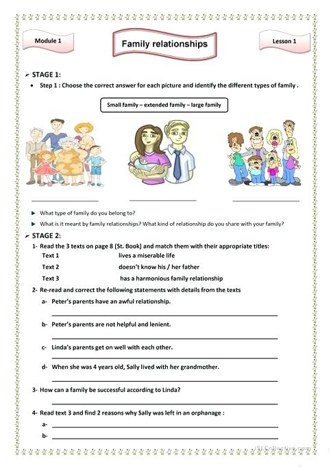 Family Relationships Worksheet Free Printable And English