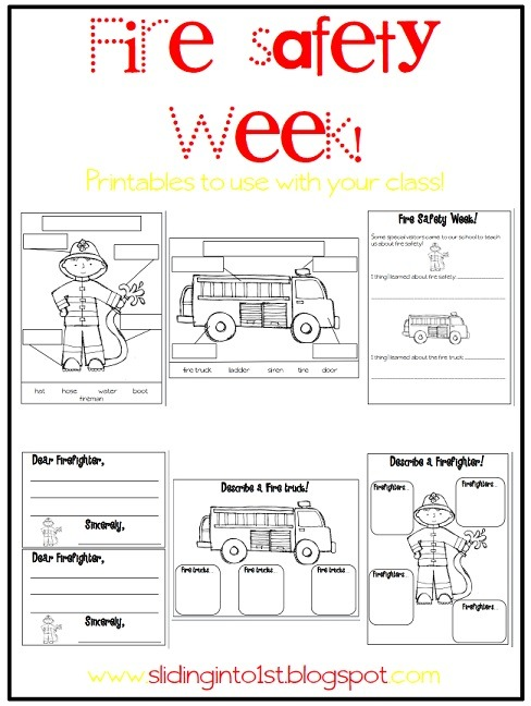 Fire Safety For Preschoolers Printables   Coloring Page