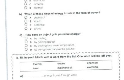 Free 6th Grade Science Worksheets Home Economics Lesson Plans High