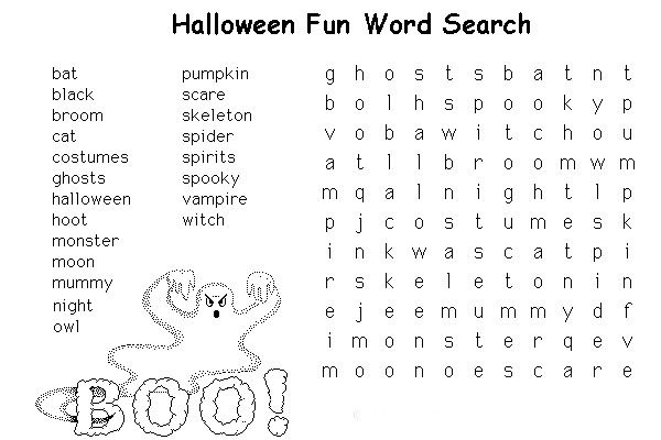 Free Halloween Printable Activities Free Halloween Activities Free