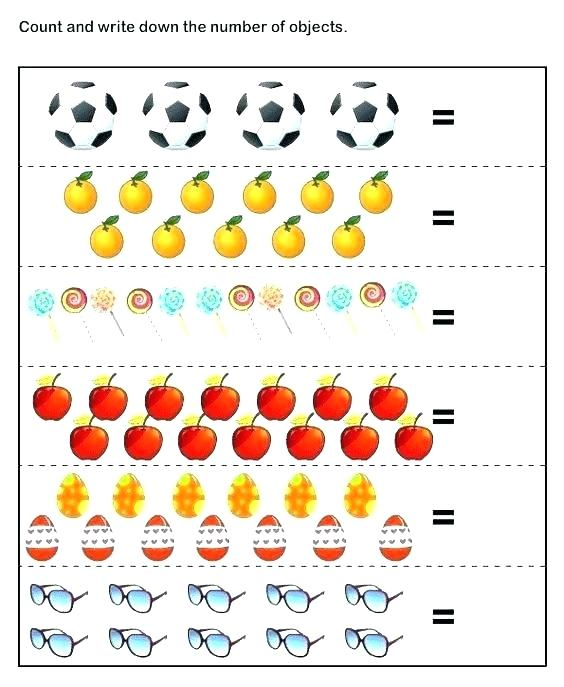Free Math Worksheets Printable Preschool Addition Kindergarten
