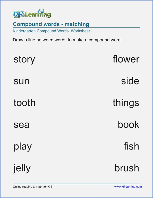 Compound Words Worksheet Grade 2 – Dailypoll Co