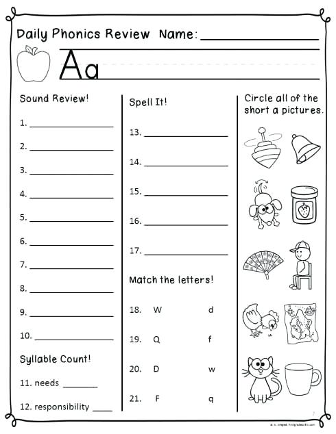 Free Printable Kumon English Worksheets Syllable Worksheets Grade