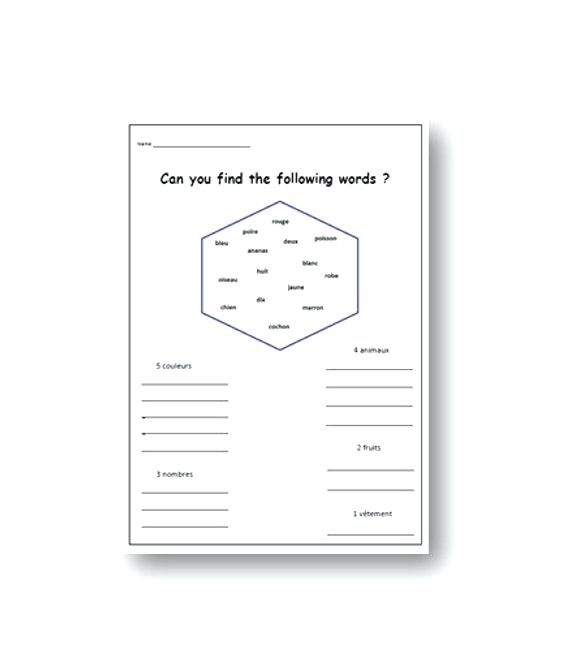 French Language Worksheets The Best Image Collection Lesson