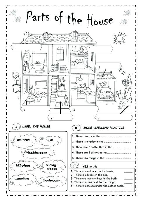Furniture Worksheets For Preschoolers Furniture Worksheet