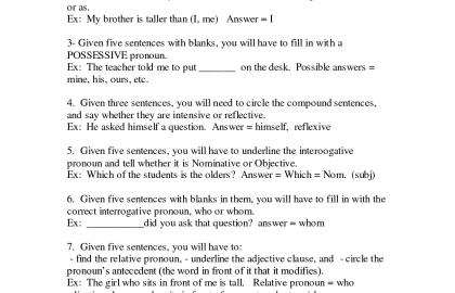 Grade 4 English Worksheets 7th Grade English Worksheets Printable
