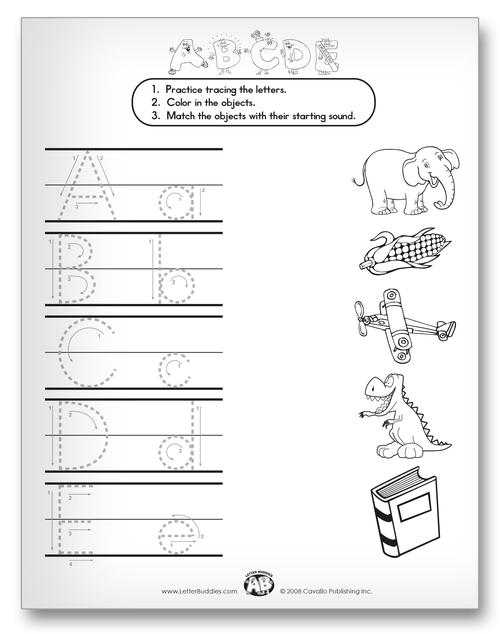 Letter Buddies Matching Classroom Activity Worksheet