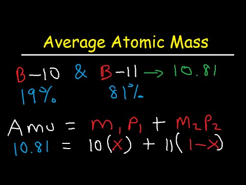 Average Atomic Mass Practice Problems