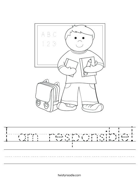 A Z Of Responsibility Worksheet That Resource Site Worksheets For