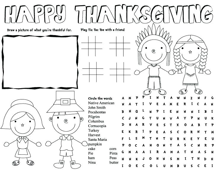 I Am Thankful For Worksheets Kindergarten Happy Thanksgiving