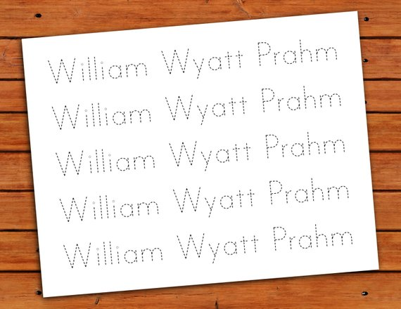 Personalized Print Name Trace Worksheet