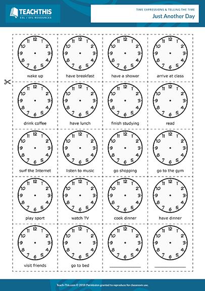 Time Esl Activities Games Worksheets