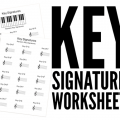 Key Signature Worksheets Free