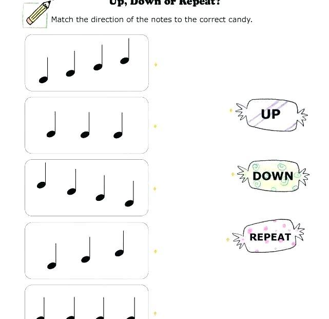 Kindergarten Music Worksheets Grade Music Worksheets Music