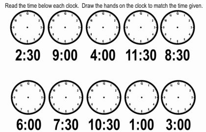 Kindergarten Time Worksheets Free Literacy Worksheets For