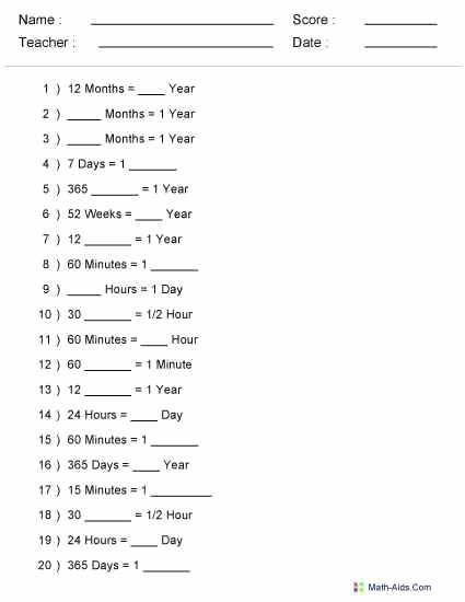 Math Measurement Worksheets – Mdepot Info