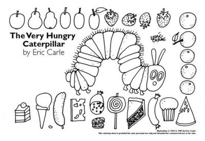 The Very Hungry Caterpillar Worksheet   School Planning