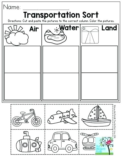 Land And Water Forms Worksheets Transportation Worksheet