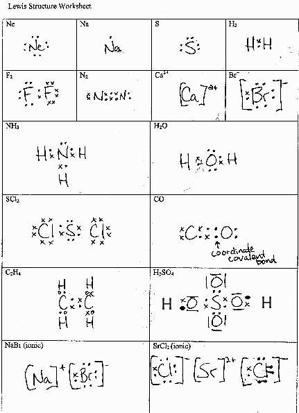 Lewis Structure Worksheet