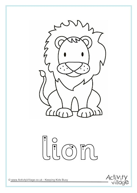 Lion Worksheets