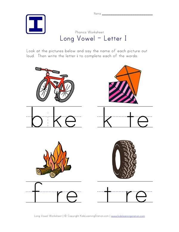 Long Vowel I Worksheet