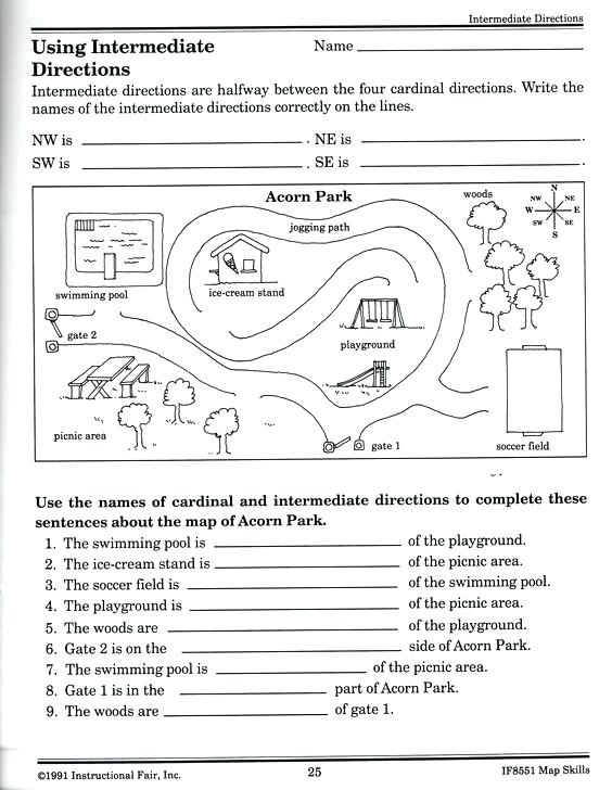 Map Skills Worksheets 6th Grade Worksheets Free Elementary Map