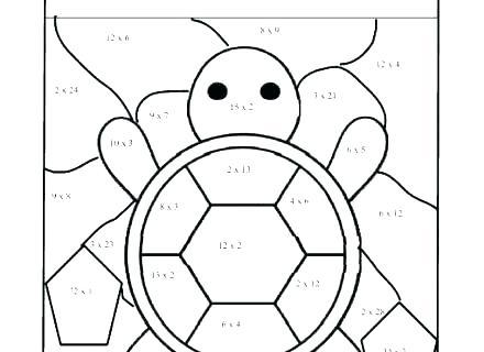 Math Coloring Worksheets 1st Grade Free Multiplication Sheets