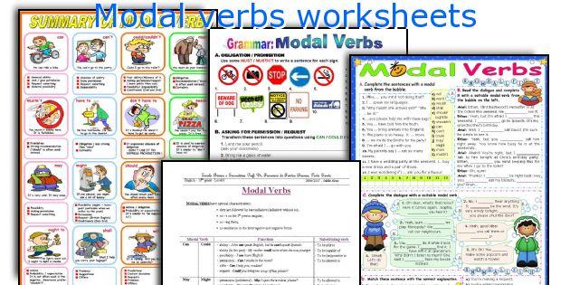 Modal Verbs Worksheets